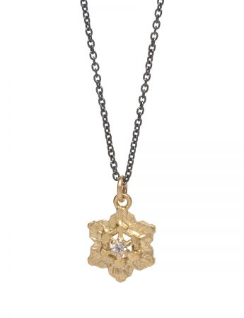 Molten Crystal Necklace - Gold and Silver with Diamonds