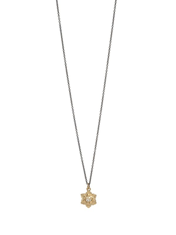 Molten Crystal Necklace – Gold and Silver with Diamonds