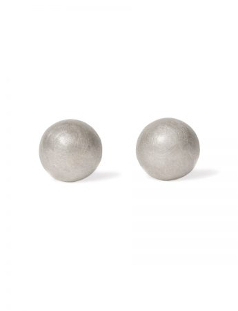 Moon Stud Earrings – Silver
