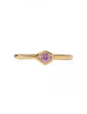Morning Star Ring - Rose Gold with Pink Sapphire