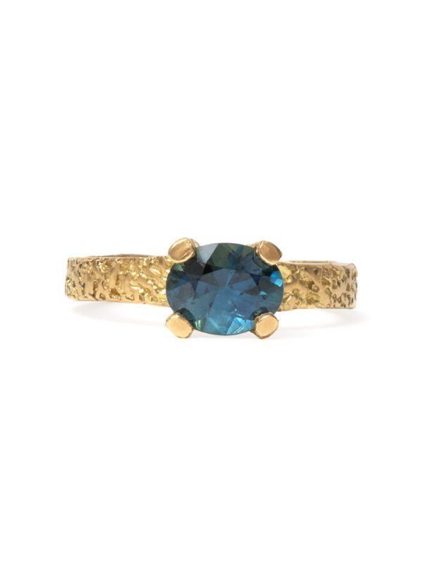 Oval Blue Sapphire Engagement Ring