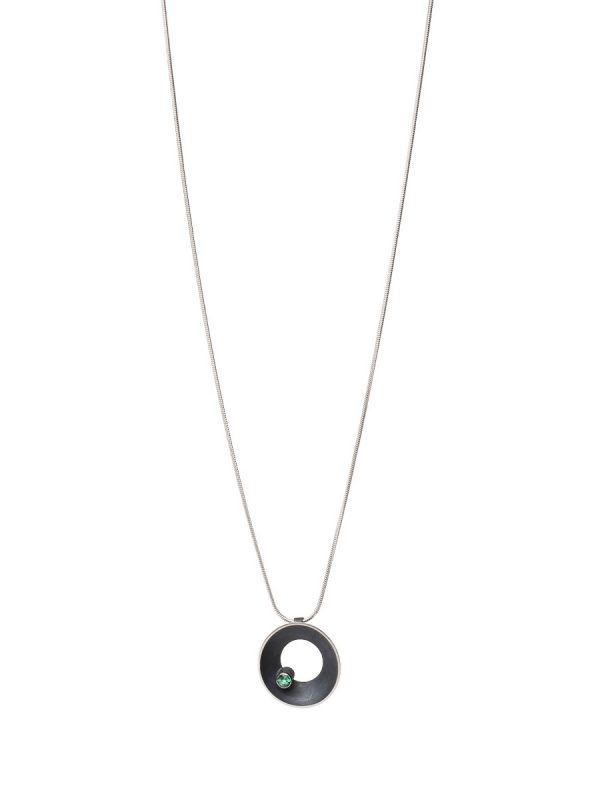 Periwinkle Necklace – Blue-Green Tourmaline