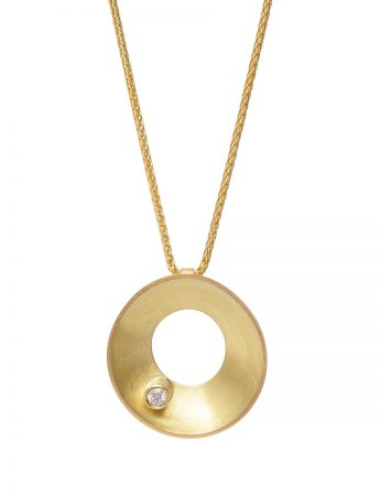Periwinkle Pendant Necklace - Gold & Diamond