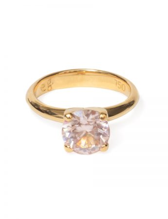 Poet's Ring - Pink Champagne Zircon