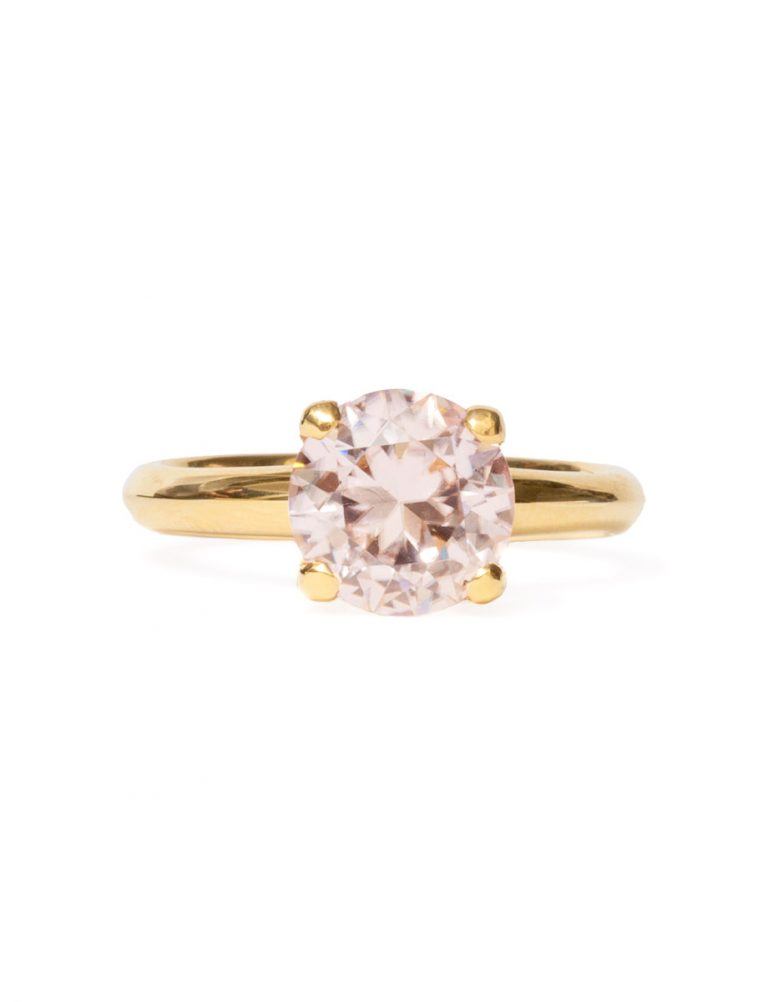Poet's Ring – Pink Champagne Zircon