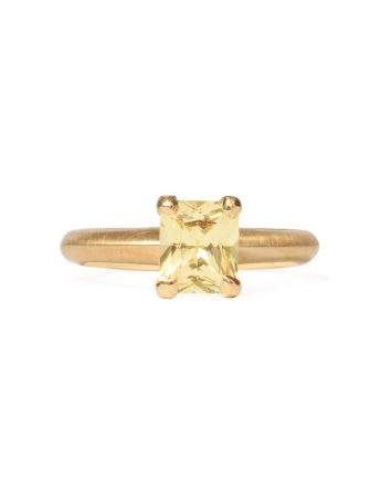 Poet's Ring - Square Yellow Sapphire