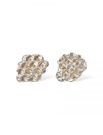 Pollen Stud Earrings - Silver & Gold