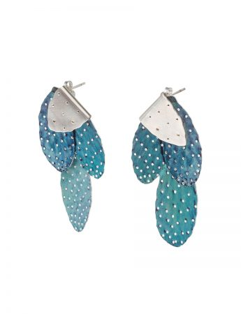 Prickly Pair Earrings - Island Blue