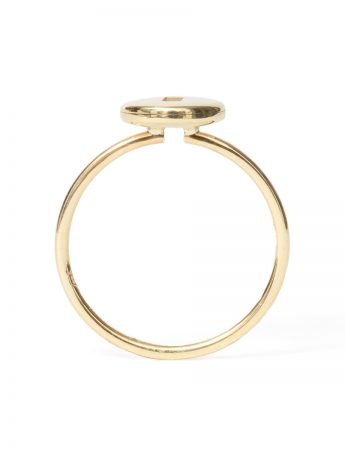 Rolling Rock Ring - Gold with Black Sapphire