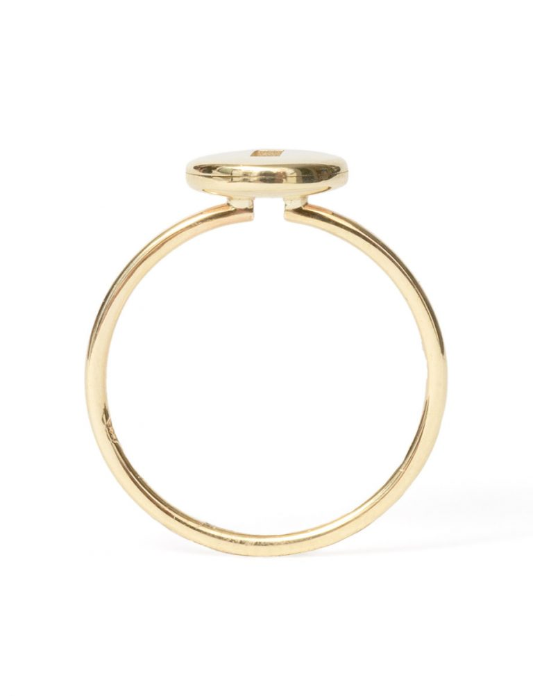 Rolling Rock Ring – Gold with Black Sapphire