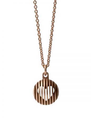 Secret Orb Heart Pendant - Rose Gold