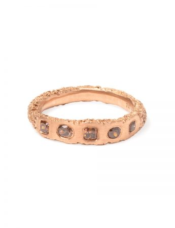 Sliced Orange Diamond Ring - Rose Gold