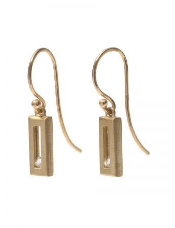 Sliding Rock Swing Earrings - Gold & Sapphire