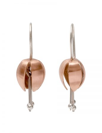Small Boronia Bud Earrings - Rose Gold & Silver