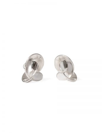 Small Cloud Stud Earrings – Silver