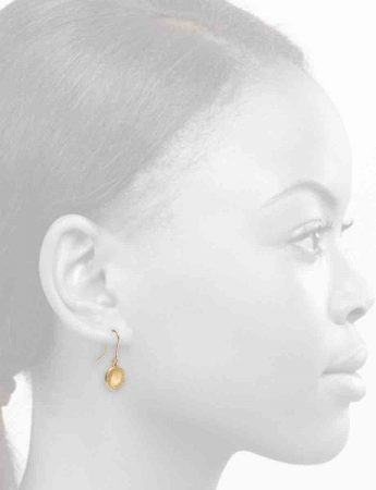 Small Drift Hook Earrings – Gold