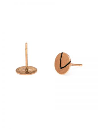 Small Leaf Tip Stud Earrings – Rose Gold