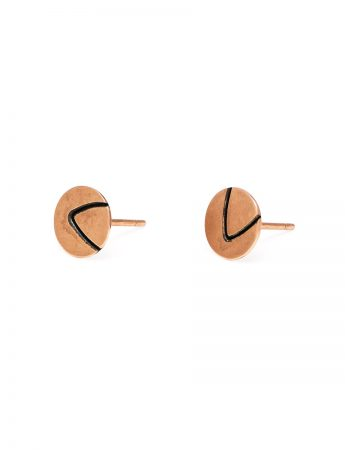 Small Leaf Tip Stud Earrings - Rose Gold