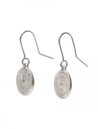 Small Rise Hook Earrings - Silver