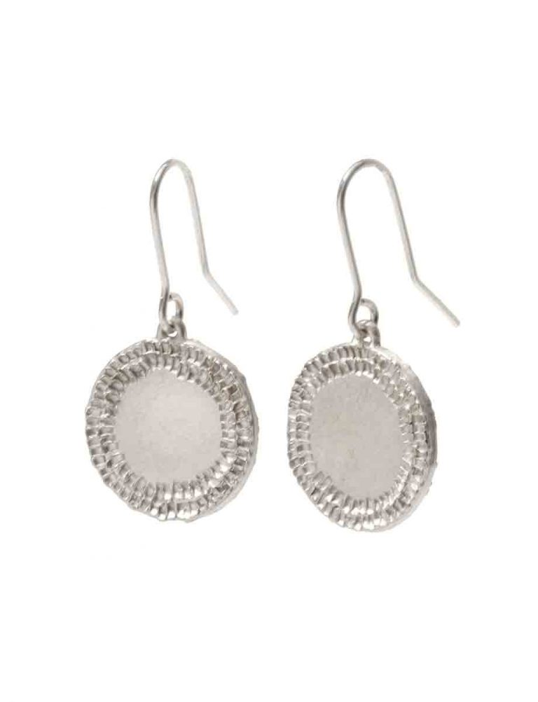 Small Shift Hook Earrings – Silver