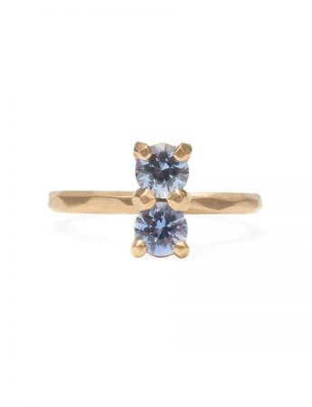 Soul Mate Ring - Pale Blue Sapphires