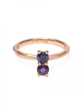 Purple Sapphire Soul Mate Ring - Rose Gold