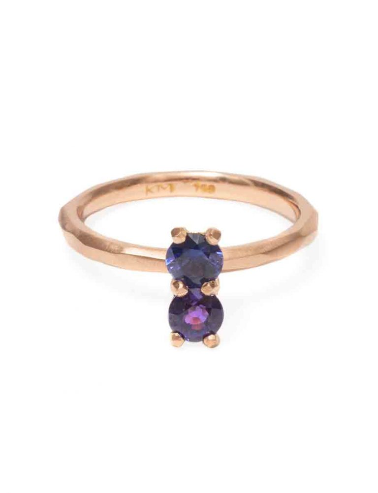 Purple Sapphire Soul Mate Ring – Rose Gold