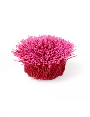 Spring Wattle Flower Brooch - Pink & Red