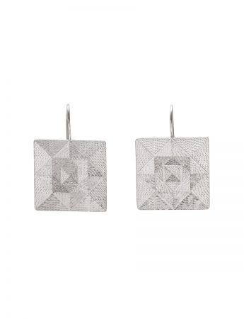 Squared Hook Earrings - Silver