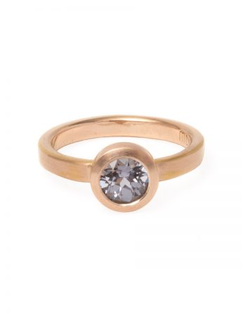 Grey Spinel Summer Storm Ring - Rose Gold