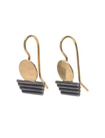 Sunset Earrings - Black & Gold