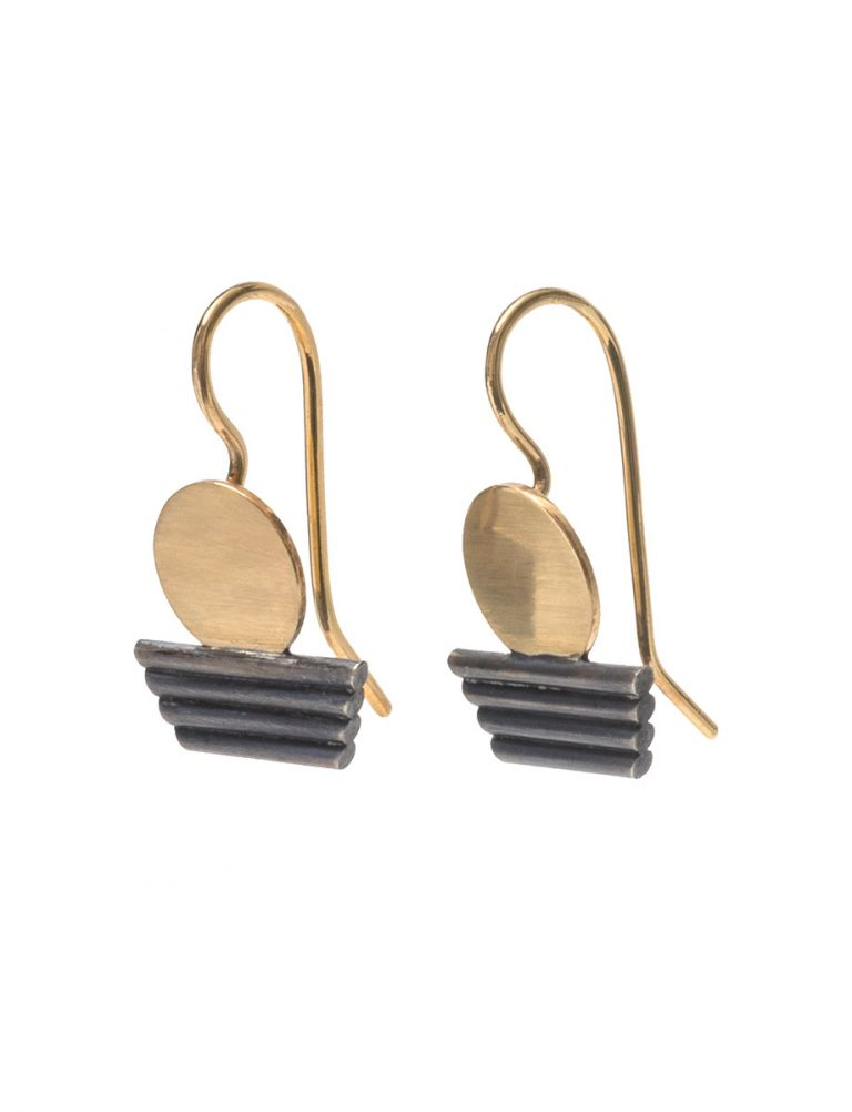 Sunset Earrings – Black & Gold