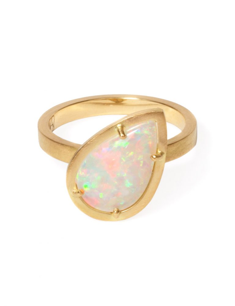 Crystal Opal Sunshower Ring