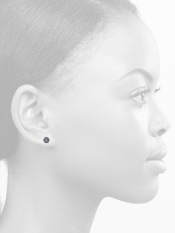 To The Point Earrings – Black & Yellow Gold