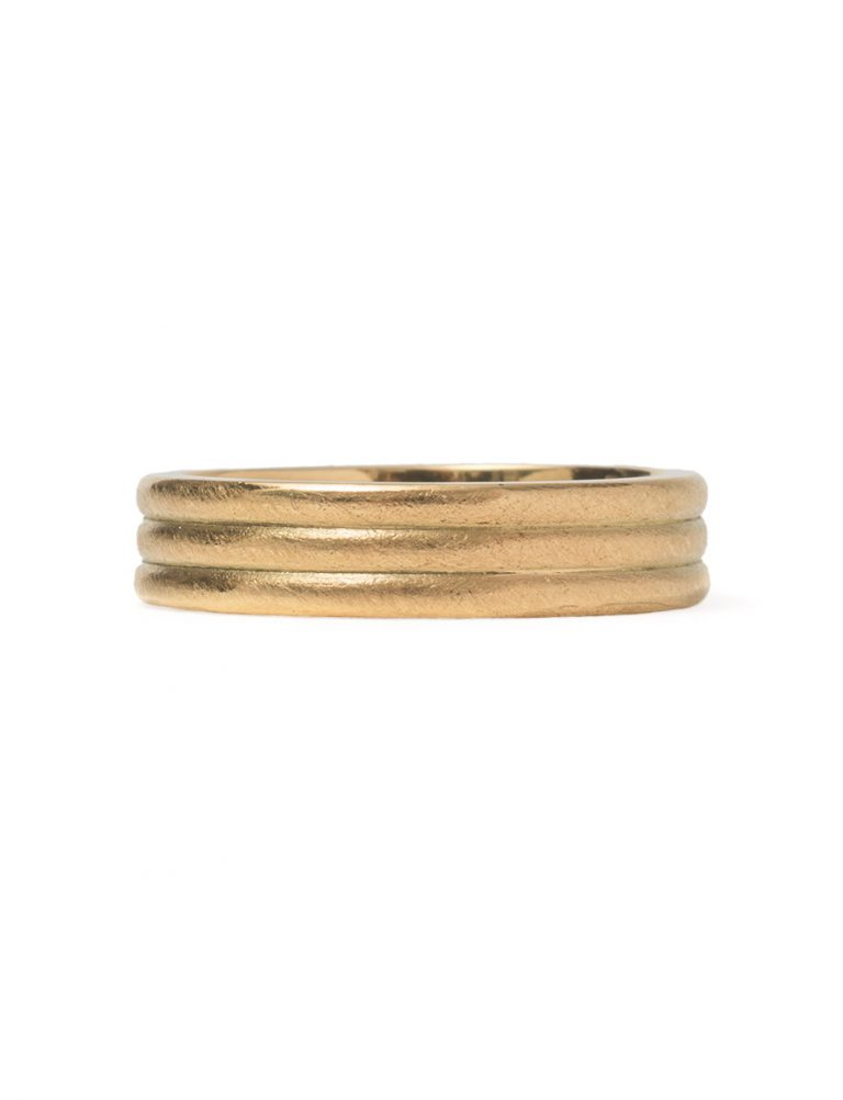 Tri Band Ring – Gold