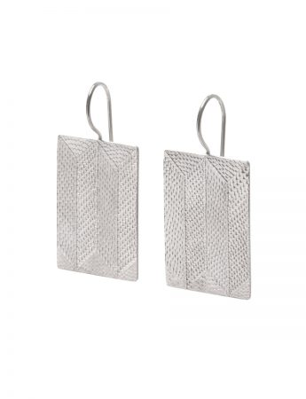 Twin Peaks Hook Earrings - Silver
