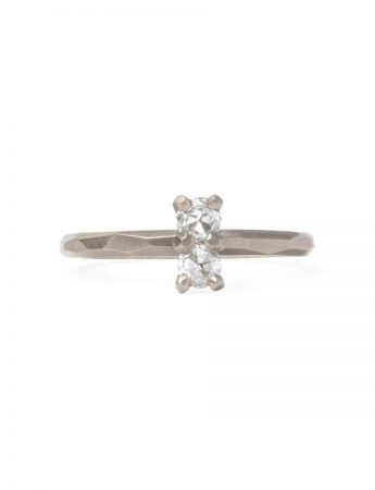 Twin Souls Diamond Ring - White Gold
