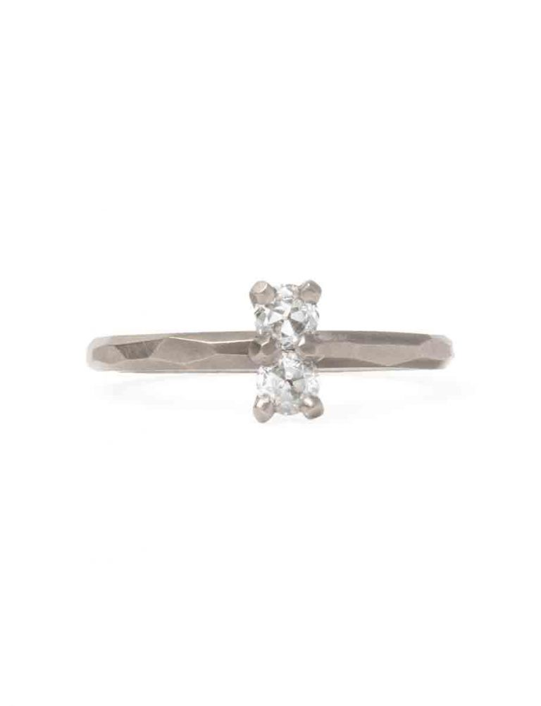 Twin Souls Diamond Ring – White Gold