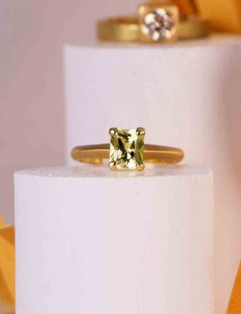 Poet's Ring – Square Yellow Sapphire
