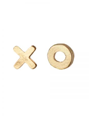 Kiss Hug Stud Earrings – Yellow Gold