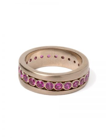 Carousel Spinning Ring - Pink Sapphire