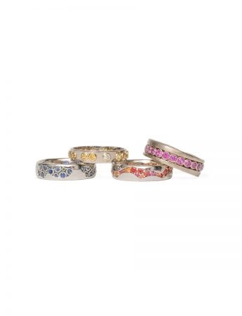 Carousel Spinning Ring – Pink Sapphire