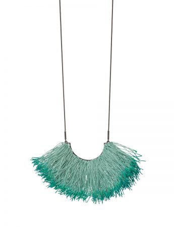 Eucalypt Stamen Necklace - Sea Blue & Green
