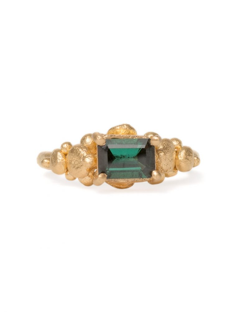 Mountain Ring – Green Tourmaline