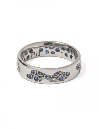 Riverbed Ring - Sapphire & Diamond