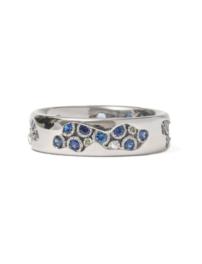 Riverbed Ring – Sapphire & Diamond