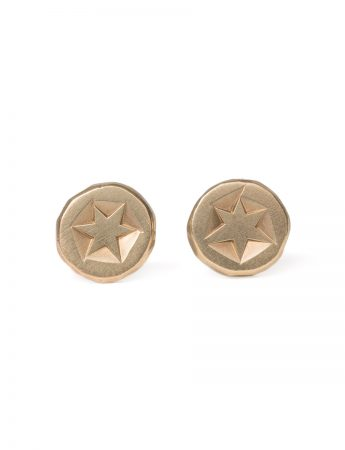 Catha Stud Earrings - Yellow Gold