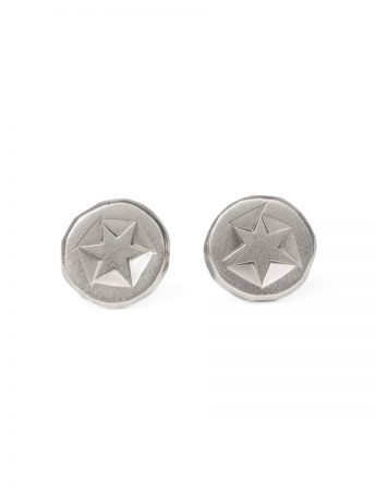 Catha Stud Earrings - Silver