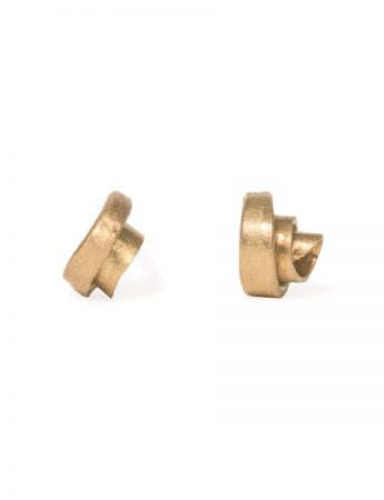 Koru Stud Earrings - Yellow Gold
