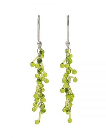 Loose Glass Earrings - Spring Green